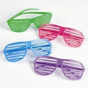 ecd89eaf38 12 Pairs of 80 s Shutter Shade Sunglasses - Party Favors